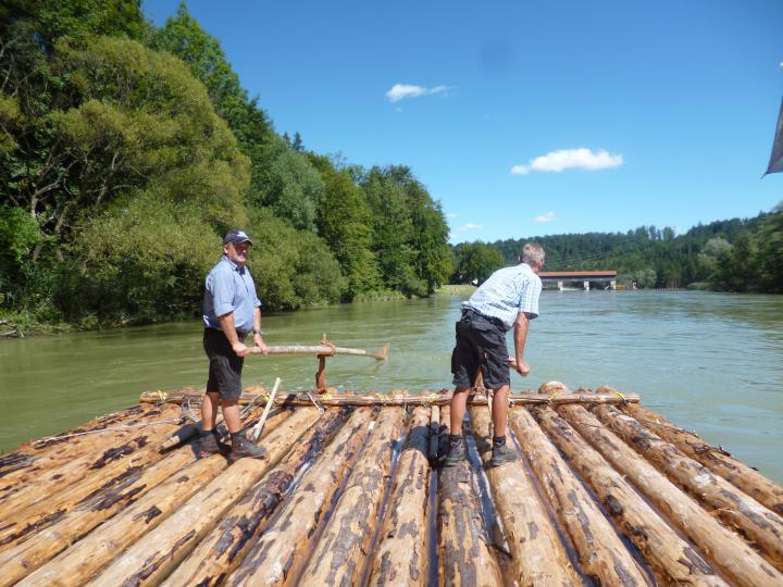 Rafters on the Isar