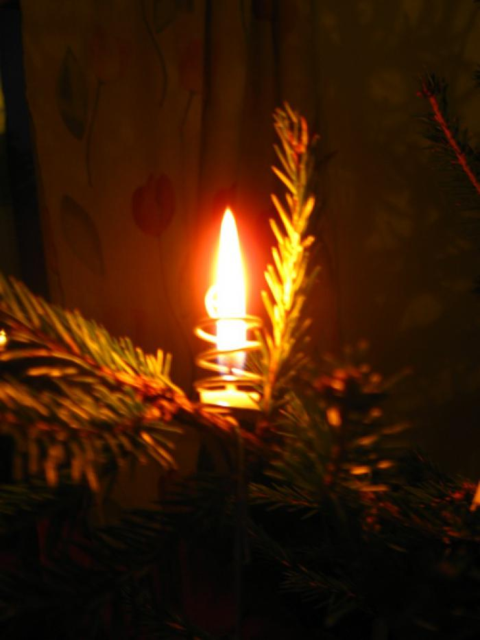 Candle from my Mum's Chritmas Tree