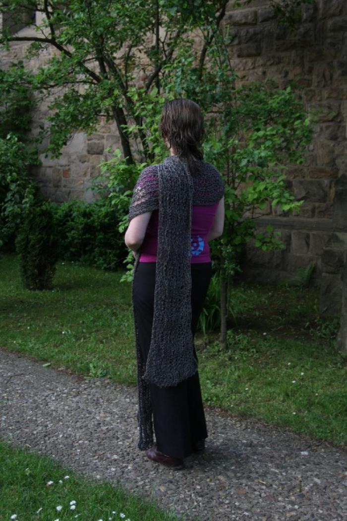 Grey summer shawl