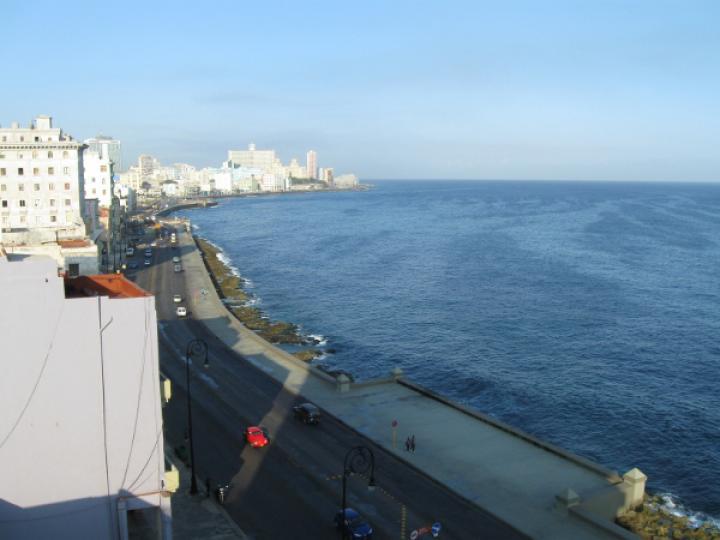 Havanna Malecon promenade from our hotel window