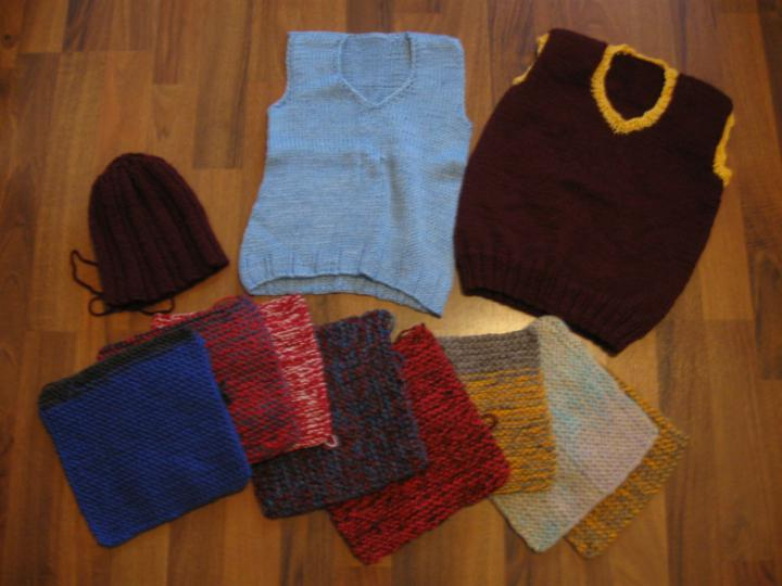 Last charity knits in 2012