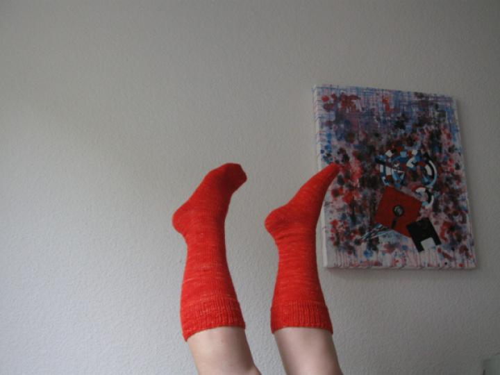 Orange knee socks