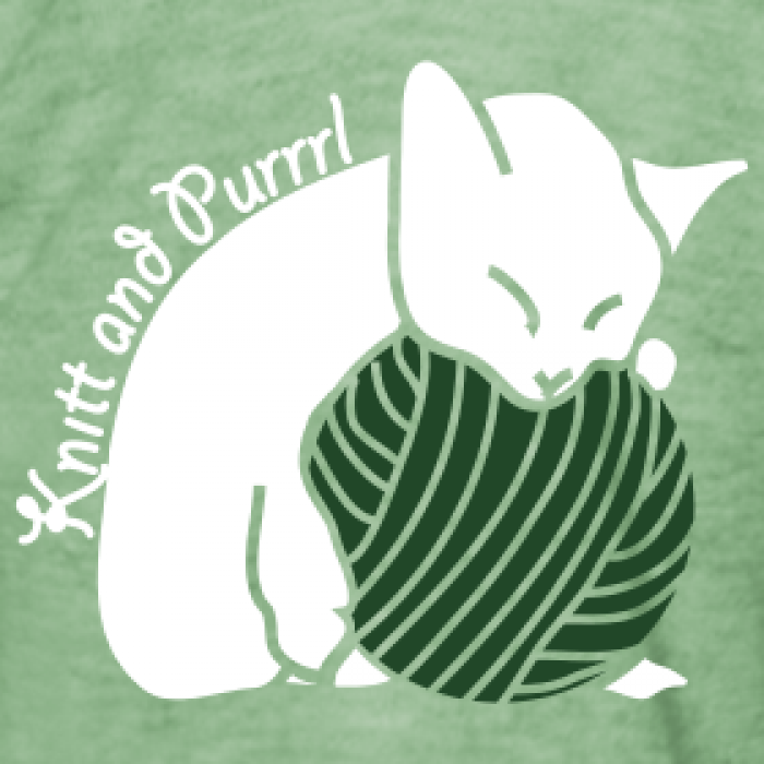 Cat relaxing motif