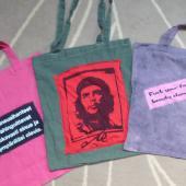 Funky tote bags