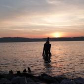 Sunset on Hudson River
