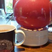 Tea in a moomin mug