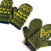 Butterfly Mitts by Mimi Hill, copyright Mimi Hill