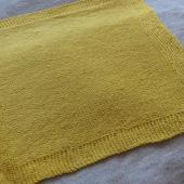 Yellow preemie blanket