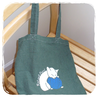Cat Relaxing on a Tote Bag